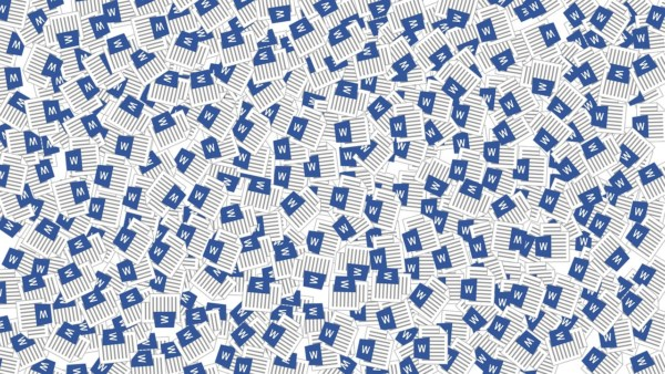 Duplicating Word documents to demonstrate digital products can be sold to infinity